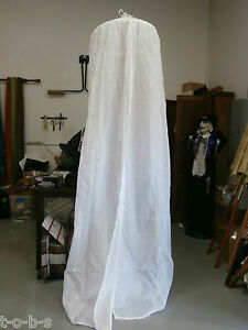 Pottery-Barn-round-Organdy-tulle-wedding-Bed-Canopy-Sheer-net-White-24-5x105
