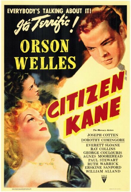 "Orson Welles ""Citizen Kane"" A3 Size Classic Movie Poster"