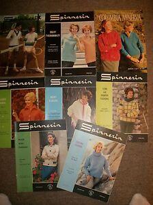 Lot-of-8-VTG-60s-Knitting-Fashions-Pattern-Books-Spinnerin-Bernat