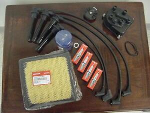 honda civic  tune  kit cap rotor plugs wires air oil filter oem ebay