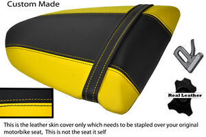 YELLOW & BLACK CUSTOM FITS KAWASAKI NINJA ZX6R 600 05-06 REAR SEAT COVER