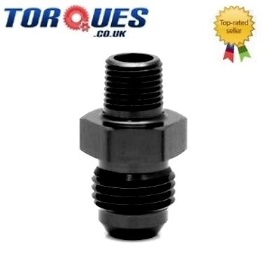 "AN -6 (AN6 AN 06) to 1/8"" NPT Straight Adapter - Black"