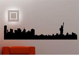 New York City Skyline Wall Stickers Wall Decals Vinyl Art Decals - Wall decals city