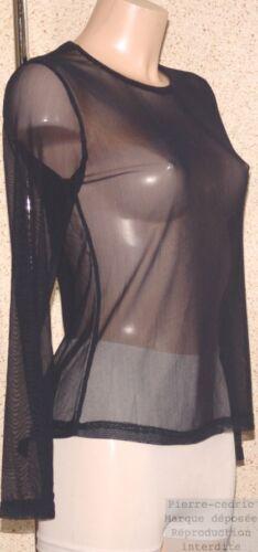 T-shirt femme résille Fabrication française sexy transparent neuf pierre-cedric