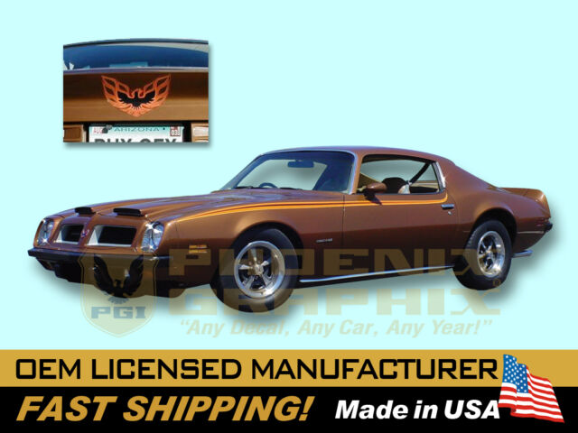 1973 1974 1975 Pontiac Firebird and Formula D98 Decals & Stripes Kit