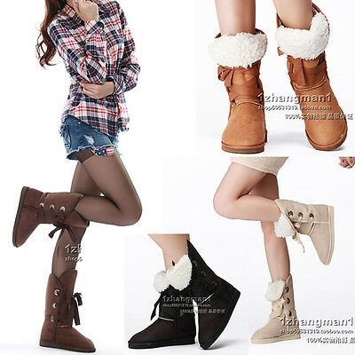 FASHION WOMEN'S GIRL'S WINTER SNOW WARMER BOOTS SHOES FREE SHIPPING 4 COLORS