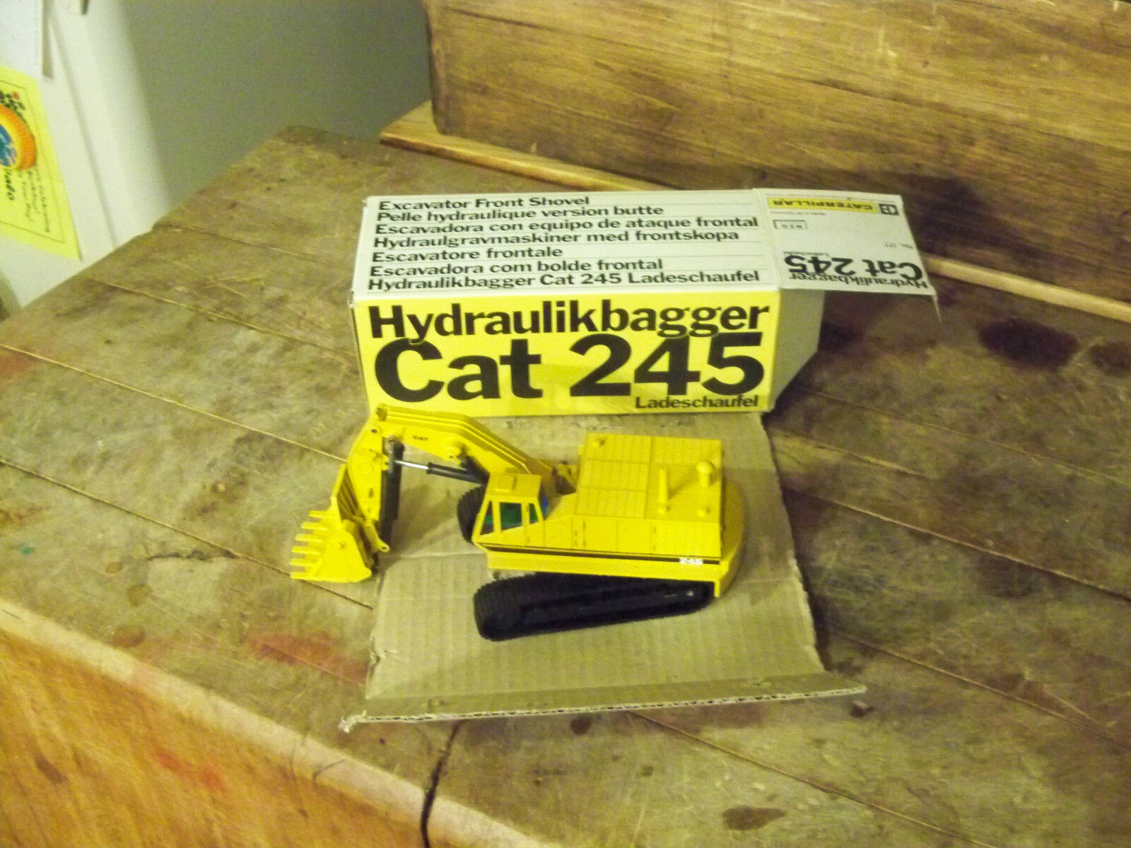 NZG No 177 Cat 245 (Caterpillar) Toy and Box are Mint German