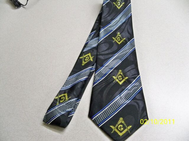 Mason, Masonic, Freemasonry, Fraternal, square  compass quality mens necktie #21