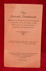 THE-AARONIC-PRIESTHOOD-Training-Session-of-April-4-1931-Program-LDS-Mormon