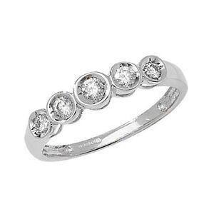 9ct-White-Gold-25pt-Diamond-Graduated-5-Stone-IIllusion-Set-Eternity-Ring-RD503W