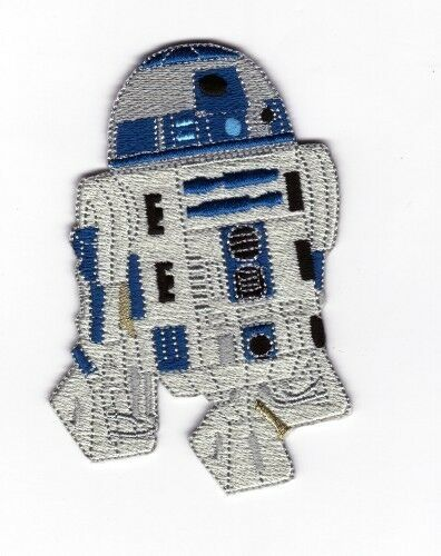 Star Wars Starwars R2D2 (R2-D2) Iron On / Sew On Patch Badge - Top Quality