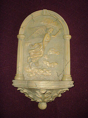 concrete mold LATEX ONLY-angel wall candle holder - used mold