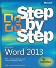Microsoft Word 2013 Step by Step by Joyce Cox, Joan Lambert (Paperback, 2013)