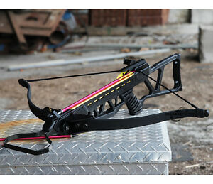 NEW ARCHERY HUNTING 220 FPS BLACK BOW Gun 150 LB CROSSBOW w/ ARROWS BOLTS