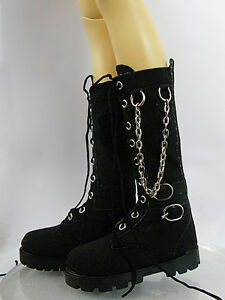 Sherry-Doll-Black-Boots-Shoes-17-Tonner-Men-Matt-and-1-4-BJD-with-Vinyl-4-MB-11