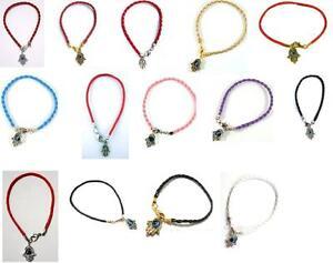 3-Kabbalah-Red-Pink-Black-String-Bracelet-Evil-Eye-Charm-Hand