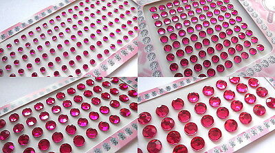 Stick On Diamante Rhinestones Self Adhesive Crystals Gems Jewels - Multi Choice