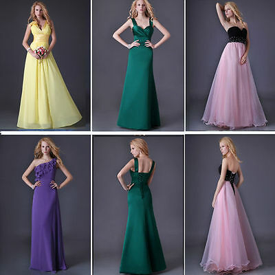Vogue Womens Formal Party Ball Prom Gown Evening Cocktail Long Bridesmaid Dress