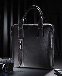 Mens-Genuine-Leather-Shoulder-Briefcase-Laptop-elegant-Handbag-Purse-Casual-BAG