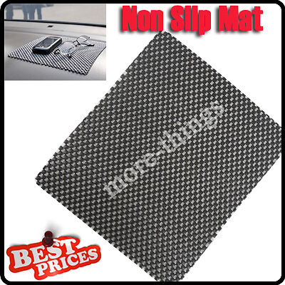 Flexible Car Non Slip Anti-slip Dash Mat board Phone Key Holder Black 215x188mm