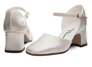 Ivory-Satin-Bridesmaid-Bridal-Flower-Girl-Shoes-12-13-1-2-3-4-5-6-7-ISABELLA-H-H