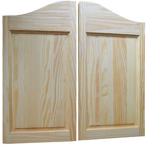 Raised two panel pine saloon doors old western style for Interior swinging doors home depot