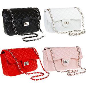 Women-Ladies-Purse-Shoulder-Bag-Quilting-Chain-Cross-Body-Handbag-Casual-Satchel