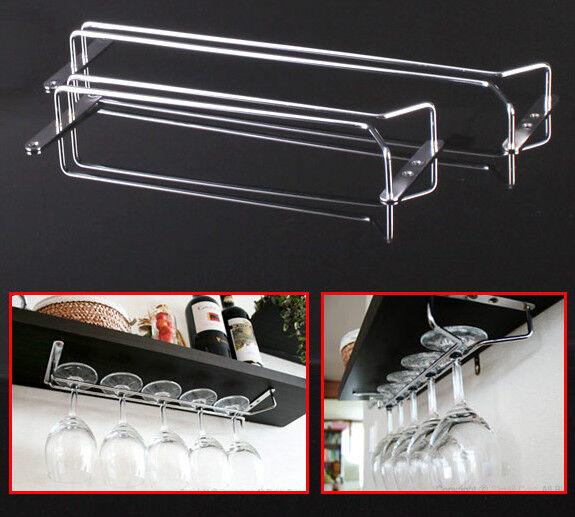 "30cm(11.8"") Wine Glass Rack DIY Home Kitchen Dining Bar Tool Shelf Holder Hanger"