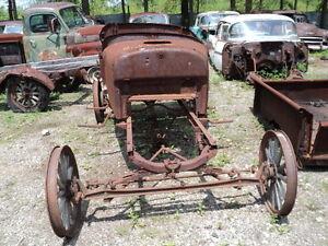 1926-1927-Ford-Model-T-touring-car-antique-hot-rat-rod-restore-project-parts-car
