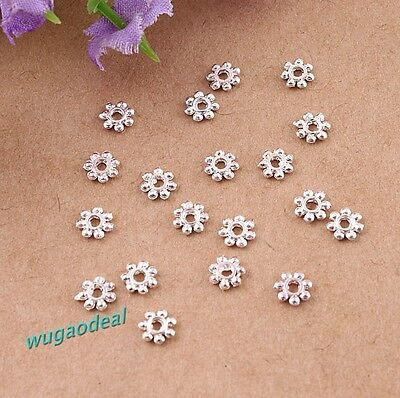 Lots 1000 Pcs Silver Plated Beautiful Lovely Fresh Daisy Spacer Bead 4mm