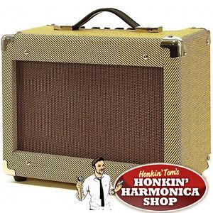 Honkin-Toms-Vintage-Style-15W-Tweed-Harmonica-Amplifier-Harp-Amp-Blues-tone