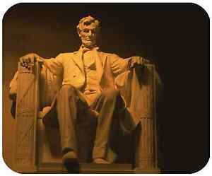 MOUSE-PAD-CUSTOM-THICK-MOUSEPAD-LINCOLN-MEMORIAL-ADD-ANY-TEXT-FREE