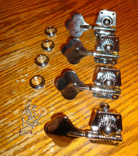 BASS GUITAR PRECISION MACHINE HEADS TUNERS JASS P UNIVERSAL PARTS REPAIR