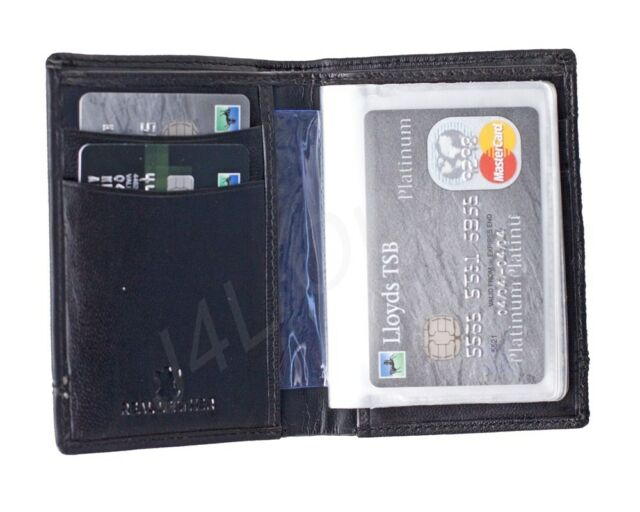 Lovely Soft Black Leather Credit Card Holder With Removable Plastic Inserts