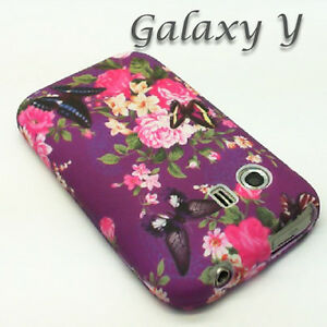 Purple-Flower-Butterfly-Silicone-Gel-Case-Phone-Cover-For-Samsung-Galaxy-Y-S5360