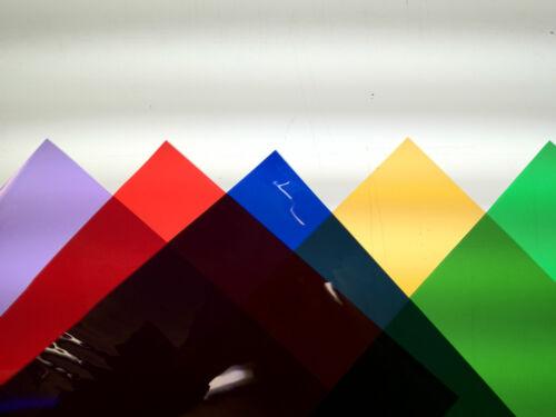 Custom pack of 10 PAR 64 High Quality Lee & Rosco branded lighting filter gels