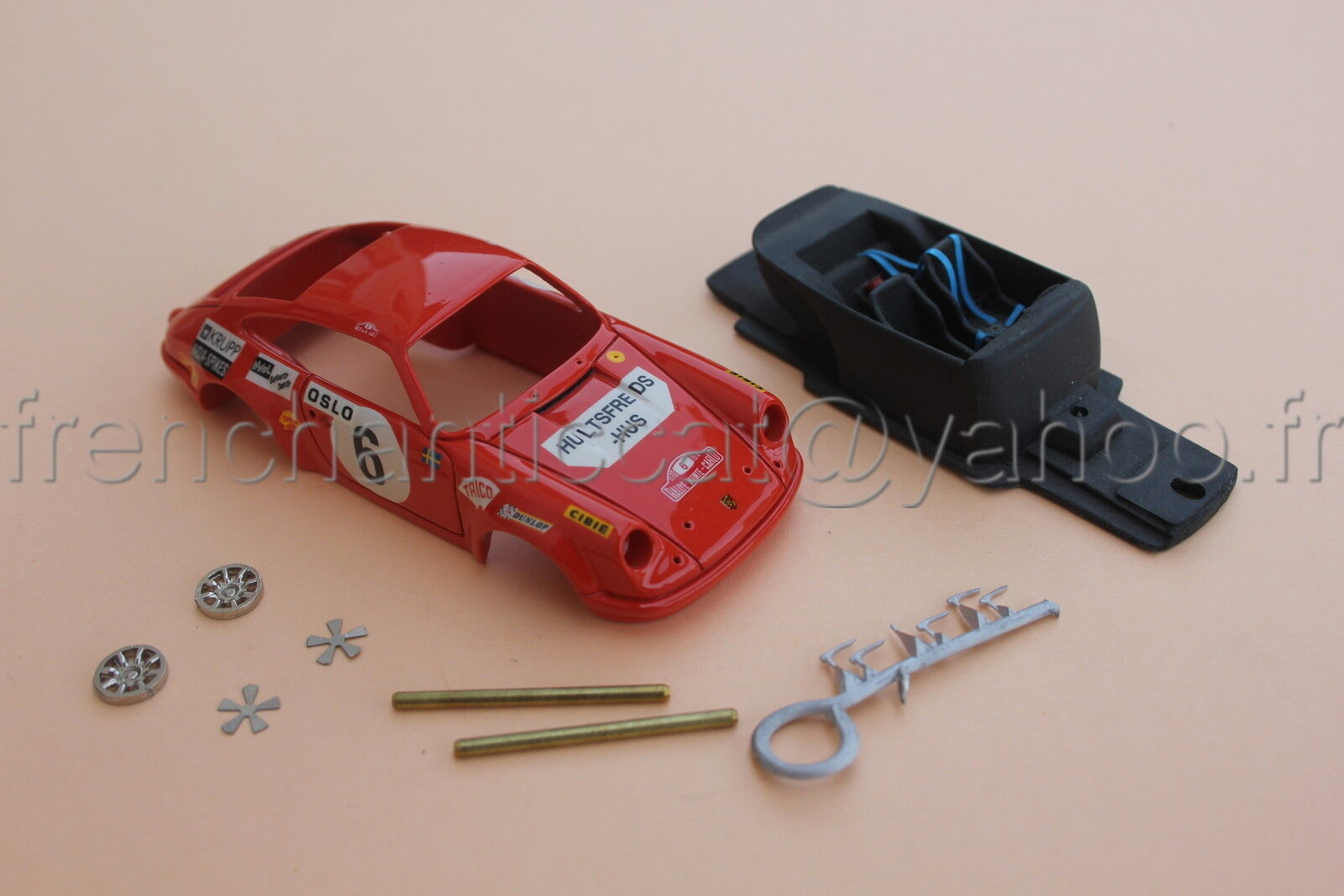 WP auto Porsche 911s edificio autolo 1970 1 43 HECO Miniatures Castle Resin