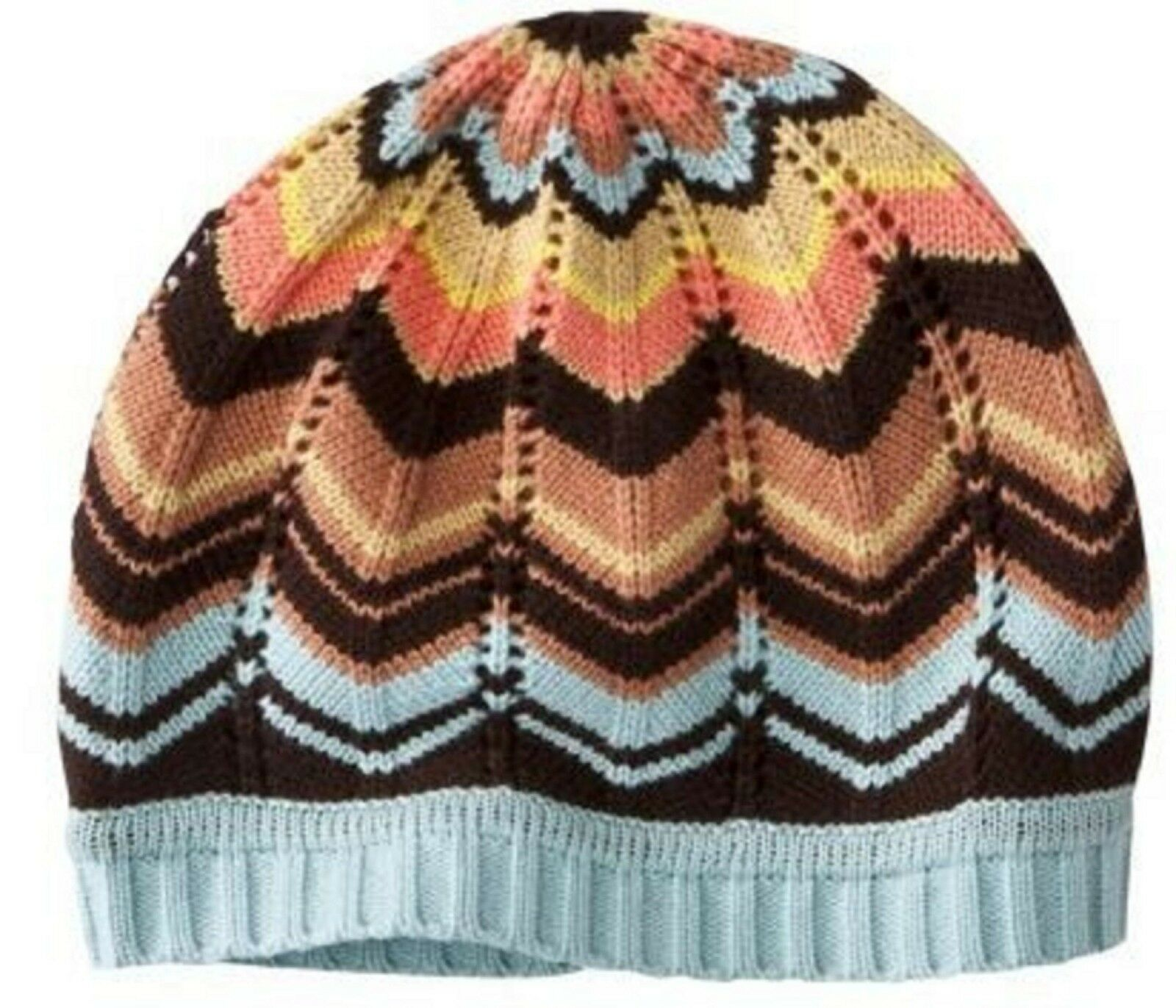 SET OF MISSONI FOR TARGET GLOVES, BEANIE, SCARF COLORE BROWN BLUE ONE SIZE