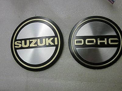 Suzuki GS400 450 550 GS750 850 GS1000 GS1100 nos engine emblem set 77-83