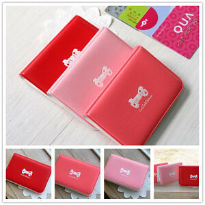 New 3 Colors Cute Business ID Credit Card Holder Case