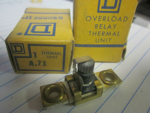 NEW LOT OF 2 SQUARE D OVERLOAD RELAY THERMAL UNITS A.71..XT16B