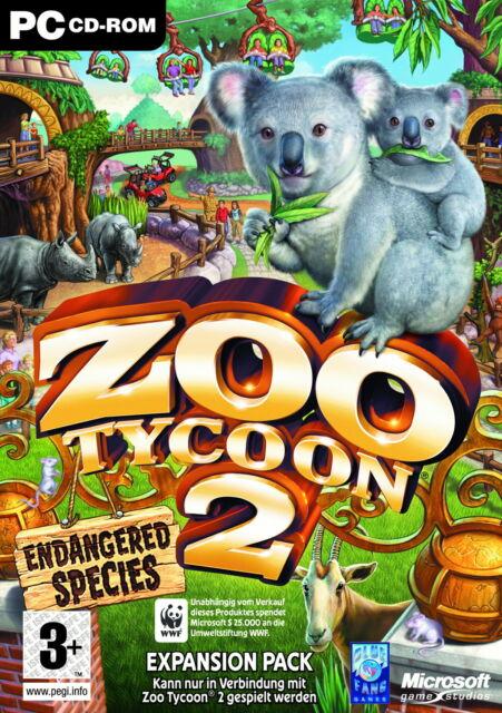 Zoo Tycoon 2 - Endangered Species Add-On von Microsoft in DVD Hülle