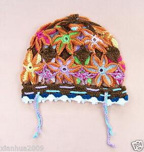 Girl Boy Winter Warm Crochet Knit Hat Children Beret Artist Ski-Beanie Cap KV