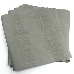 9-x11-5-sheets-Sandpaper-3000-Grit-Waterproof-Paper-Wet-Dry-Silicon-Carbide