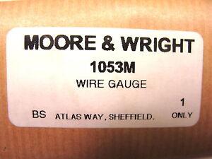 Nos moore wright uk 02 100mm machinist standard wire gauge nos moore wright uk 02 100mm machinist standard wire gauge gage 1053m keyboard keysfo Images
