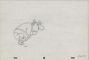 """1945 Orig TEX AVERY Animation Art - MGMs """"Jerky Turkey"""""""