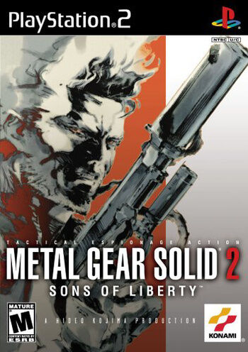Metal Gear Solid 2 - Sons Of Liberty (Sony PlayStation 2, 2002, DVD-Box)
