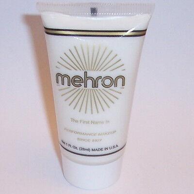 (3) White Water Base Cream Mehron Fantasy FX Makeup Face Paint Tube Painting