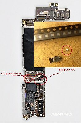 iPhone 4 4S Not Charging from USB wire repair power IC chip and 2 Filters parts