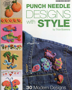 034-30-PUNCH-NEEDLE-DESIGNS-034-EMBROIDERY-PATTERN-BOOK-SEE-PICTURES